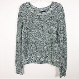 American Eagle Outfitters Woven Crew Neck Sweater